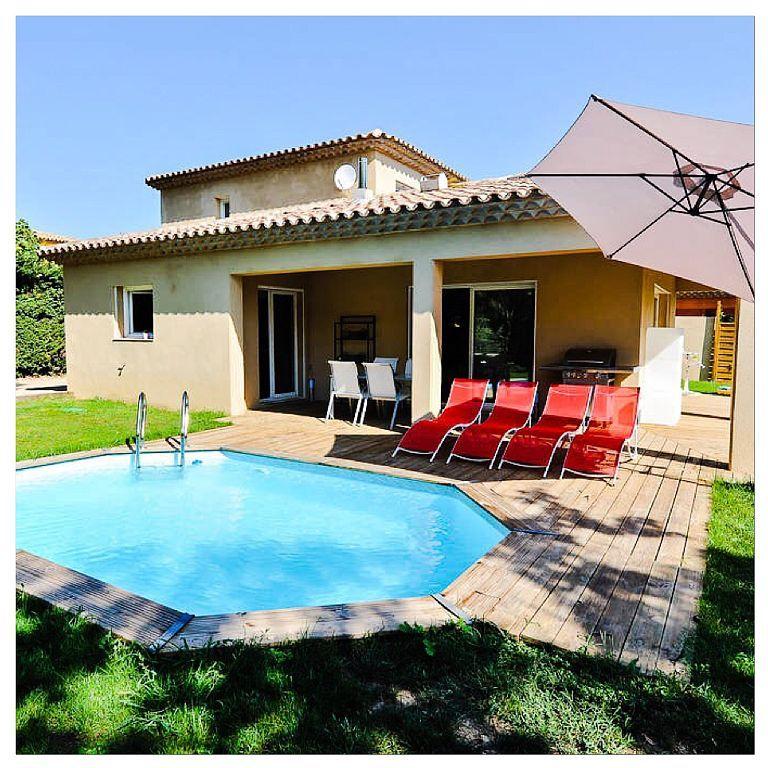 Splendide maison de vacances à Grimaud golfe de St-tropez pour 8 - location maison avec piscine dans le var