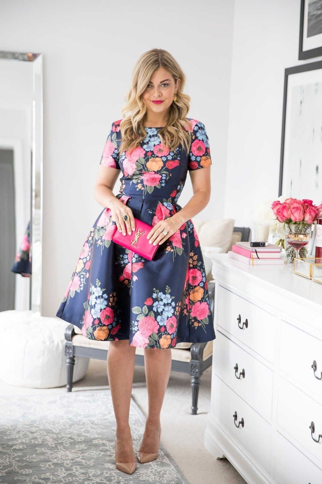 43 Adorable and Elegant Fashion for Fall with Flower Dress Style ... a6e5ddefd40c