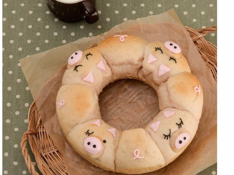 【Tomiz小食堂】粉紅小豬手撕麵包