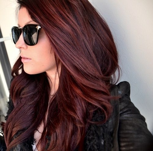 Pretty Dark Red Color Look Book Red Hair Pinterest Cabelo