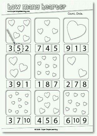 Número | Sparks | Pinterest | Kinder valentines, Pädagogik und Schule