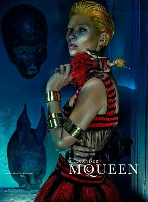 Alexander McQueen with Kate Moss for SS2014 collection