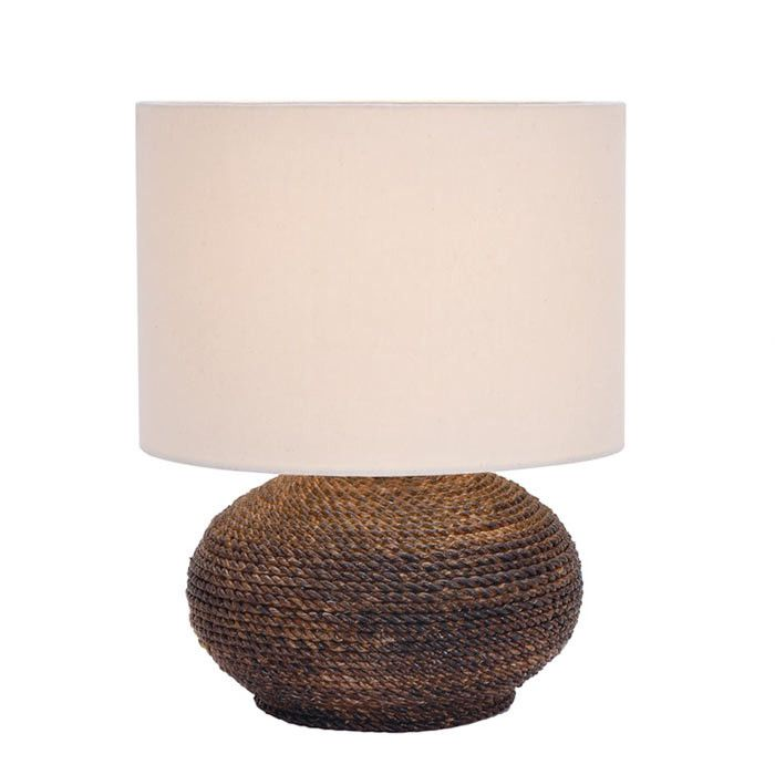 Normandy Coil Table Lamp In Brown Lamps Lighting Table Lamp