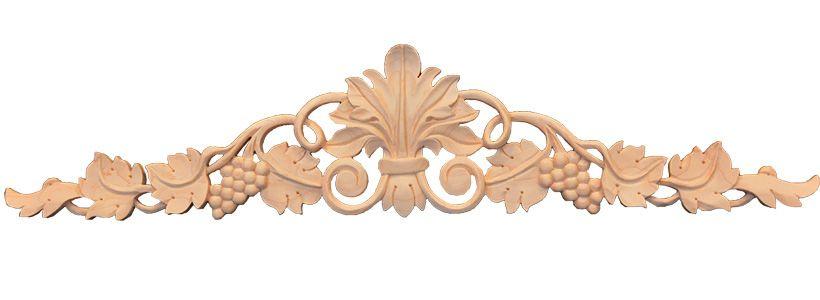 Carved wood grapes grape onlay madera carvings