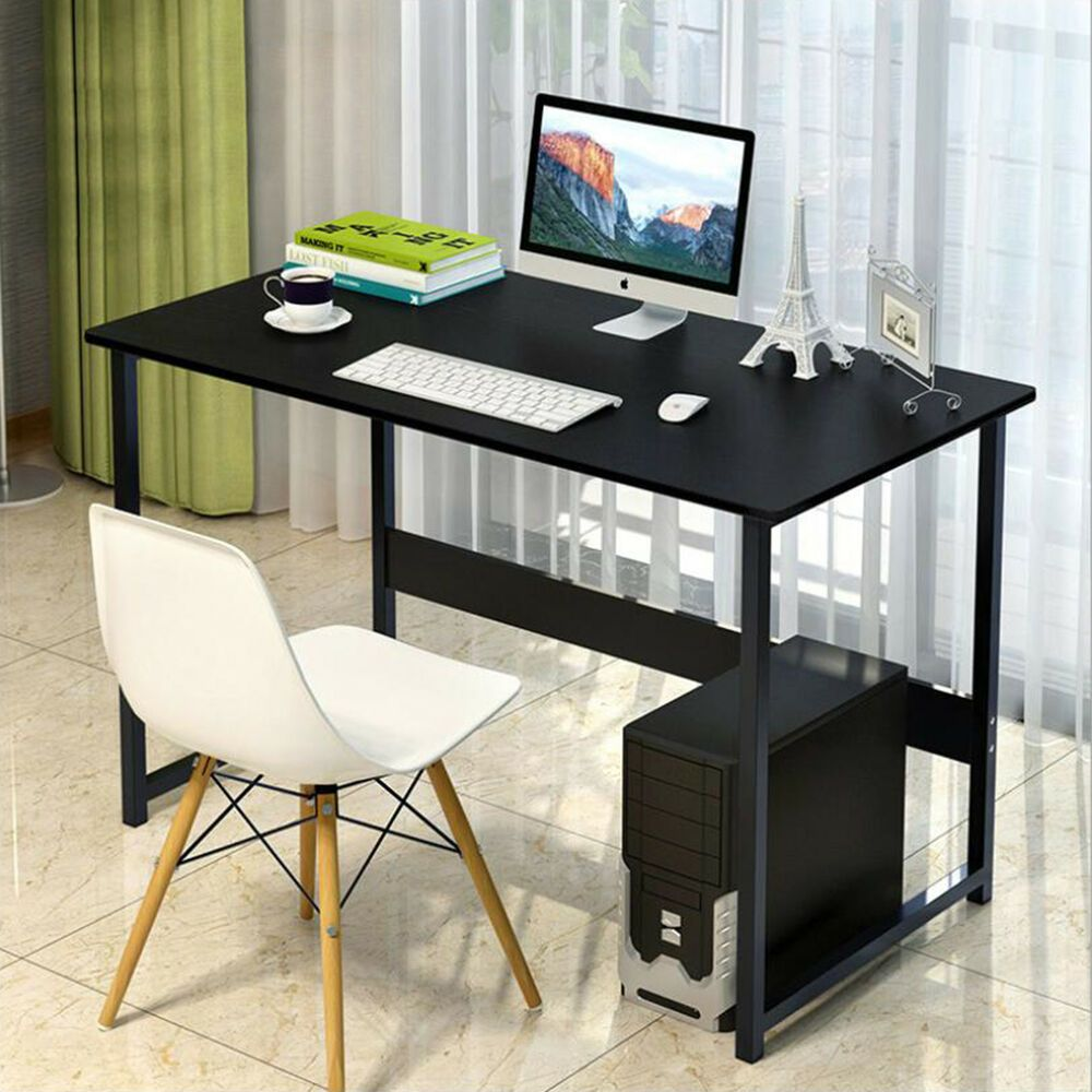 Fashion Black Computer Desk Laptop Pc Desktop Study Table Home Office Study Affil Simple Office Desk Office Furniture Computer Desk Home Office Furniture Desk