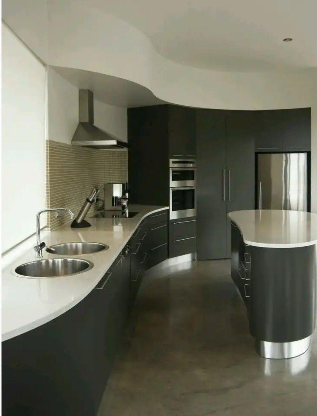 Slab kitchen cabinets  Pin by Lizeth Escobar on como aprovechar cocinas pequeñas  Pinterest