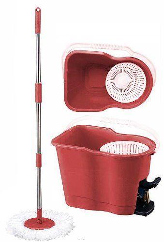 Mopaway Dry Wet Microfiber Super Absorbent Floor Mop With Bucket Burgundy By Mopaway Http Www Amazon Com Dp B0050jpbx Floor Cleaner Mopping Floors Spin Mop