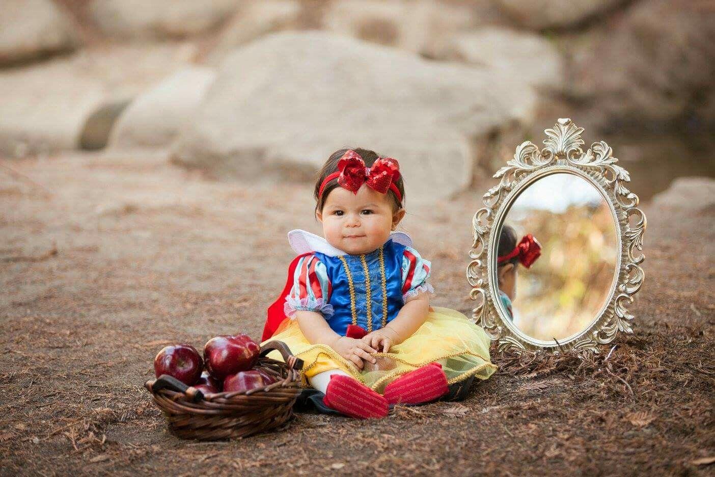 Disney Princess Snow White Infant Photoshoot Snow White Birthday