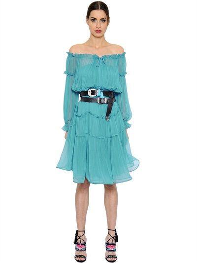 The Hottest Styles Alberta Ferretti Blue Geometric Print Shift Dress For Women