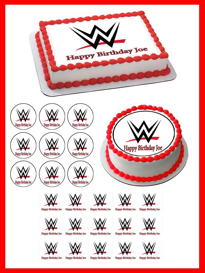 Remarkable Details About Wwe Edible Cake Topper Or Cupcake Topper Decor Personalised Birthday Cards Cominlily Jamesorg