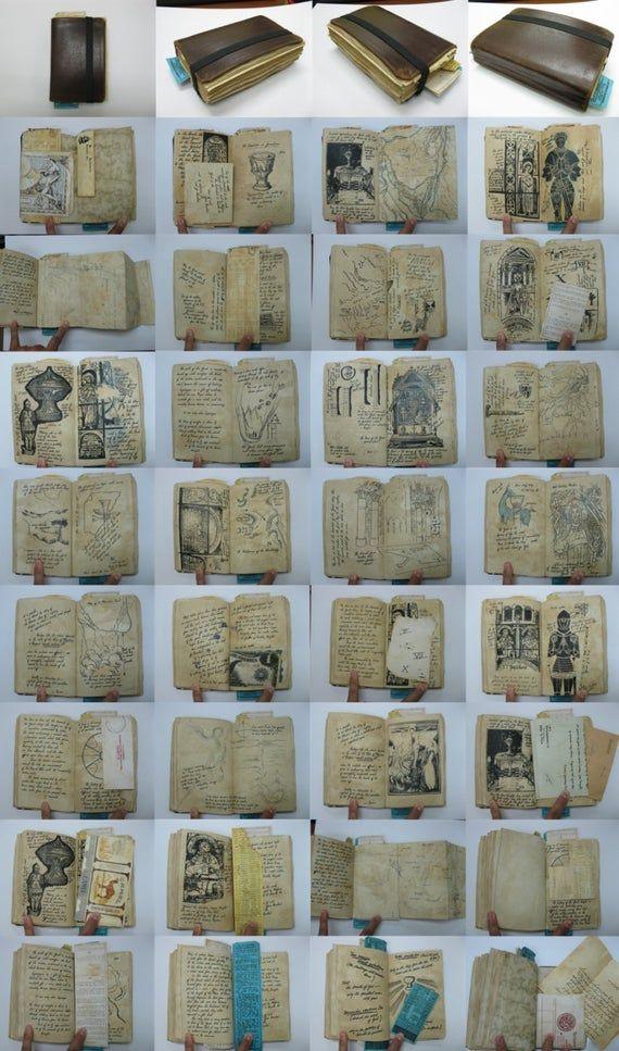 Grail Diary Hero Version Prop Replica Indiana Jones Replica Prop Sketch Book