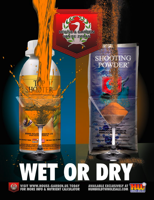 House and Garden Nutrients Top Shooter and Shooting Powder Ad Wet