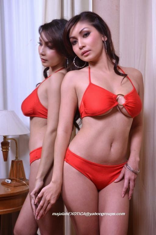 Hot Pictures Baby Margaretha On Red Bikini