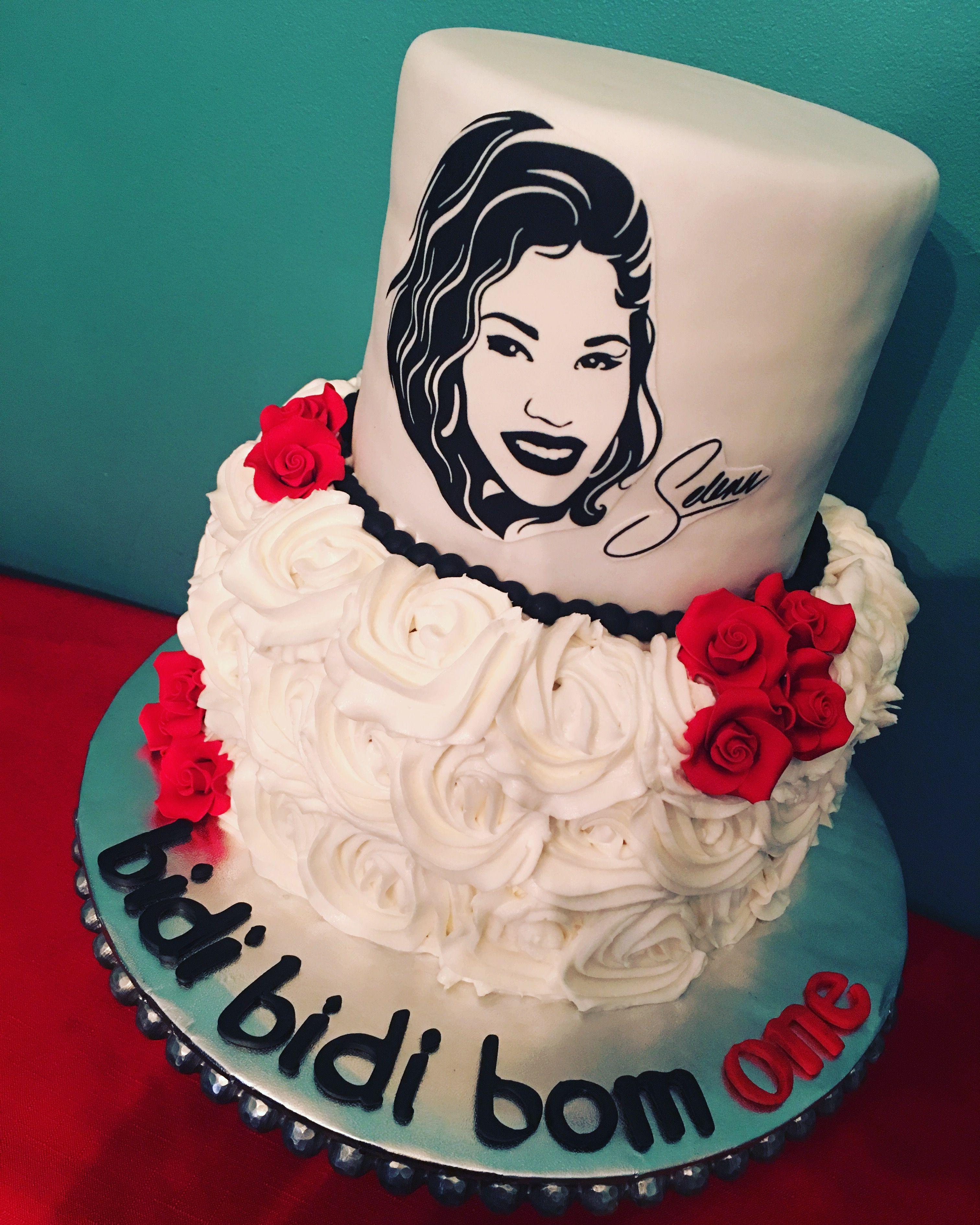 Selena Cake Birthday cake with photo, Selena quintanilla