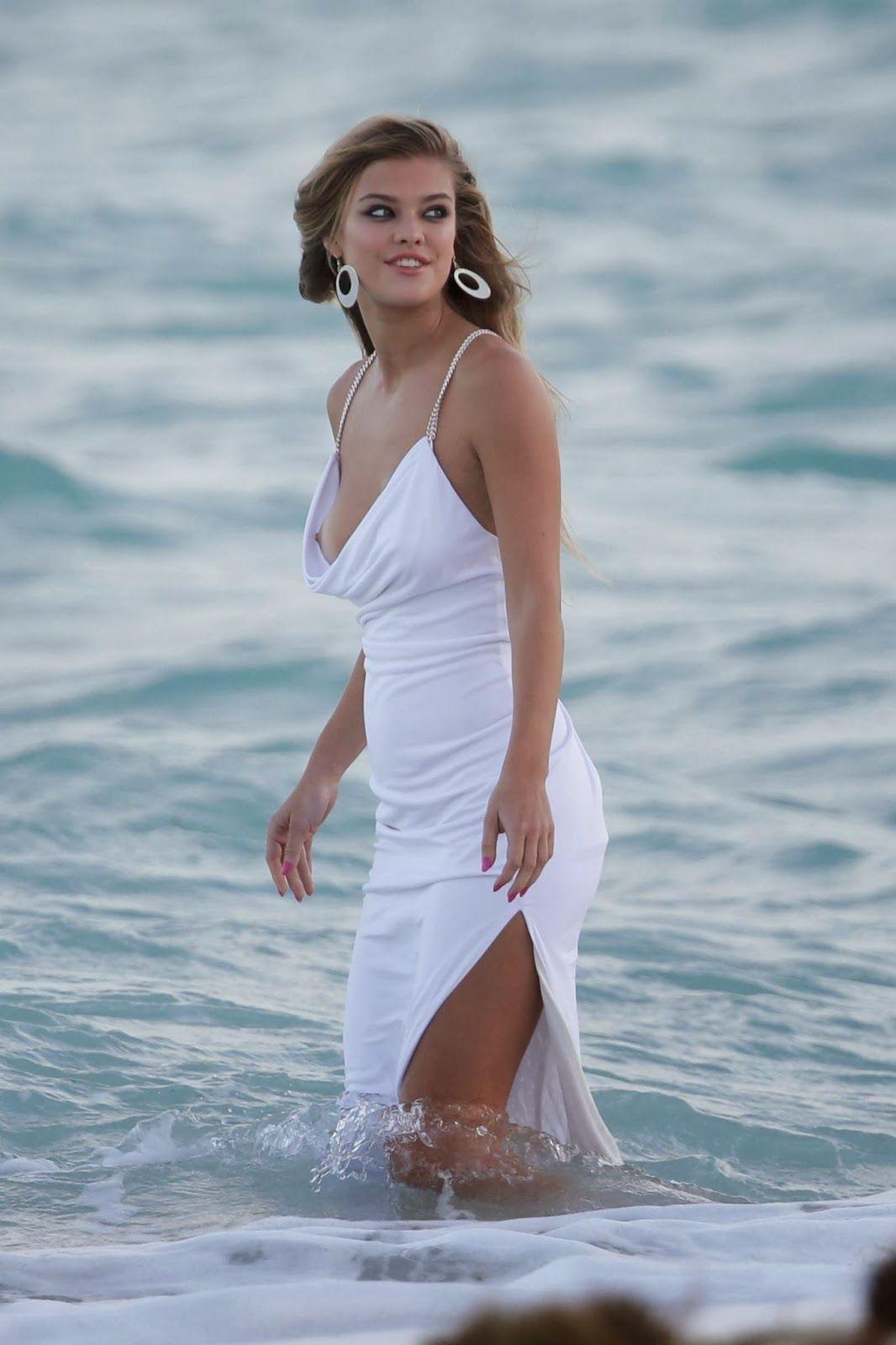 Nina Agdal Nipple Slip Candids at Bebe Photoshoot In Miami _052 ...