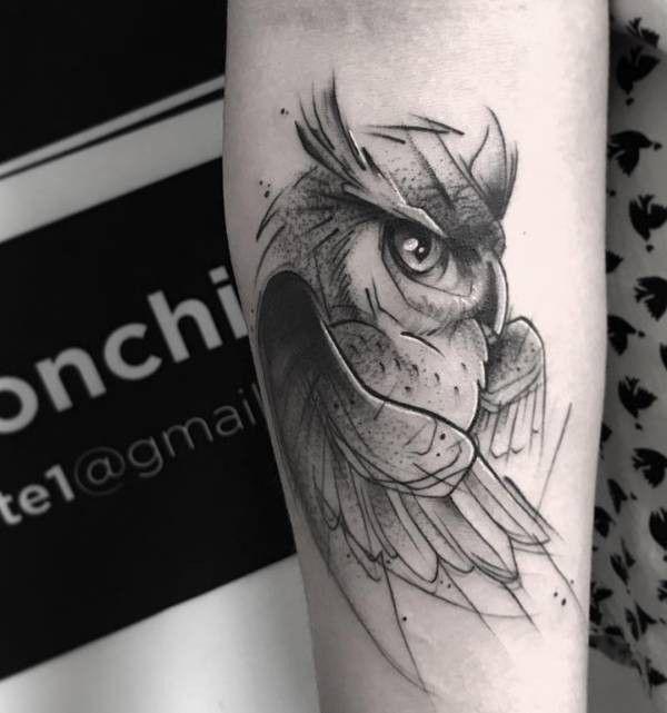 Gufo Foto Significato Idee Con Immagini Tatuaggio Gufo