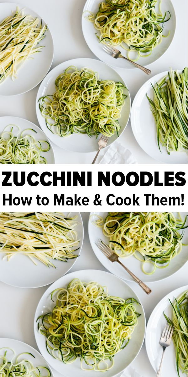 Zucchini Noodles: How to Make and Cook images