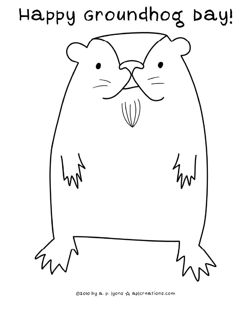 Steve The Groundhog Coloring Page Coloring Pages Happy Groundhog Day Groundhog [ 1011 x 810 Pixel ]
