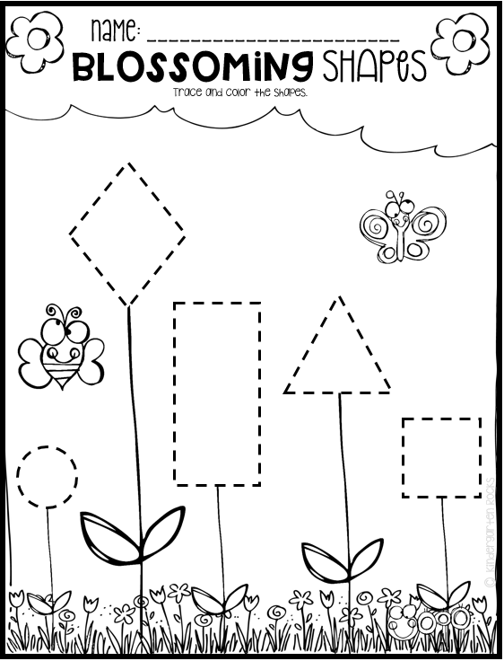 Spring math and literacy printables and worksheets for preschool ...