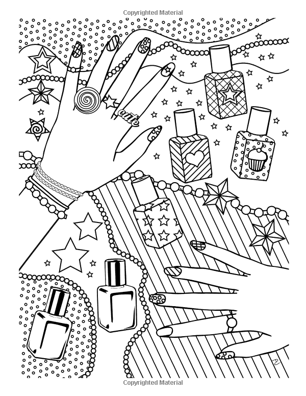 Girl Stuff: 24 Totally Girly Coloring Pages: Dani Kates ...
