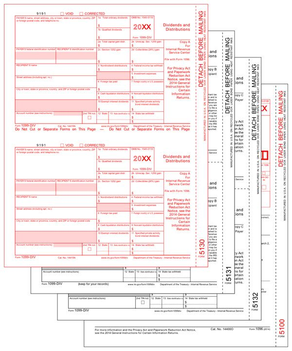 Irs Approved 1099 Div Tax Forms If You Make A Payment That May Be A