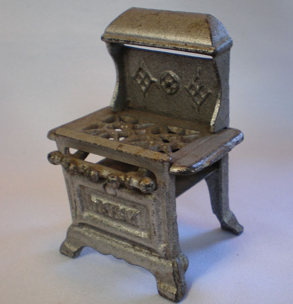 cast iron kitchen stove automatic paper towel dispenser for daisy toy painted c 1930 charm
