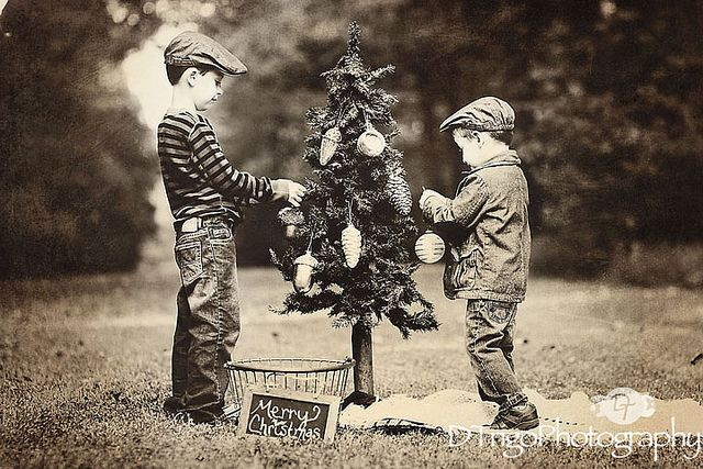 Old Fashion Christmas - D Trigo Photography (My grandmother would give us kids a second, smaller tree to decorate)