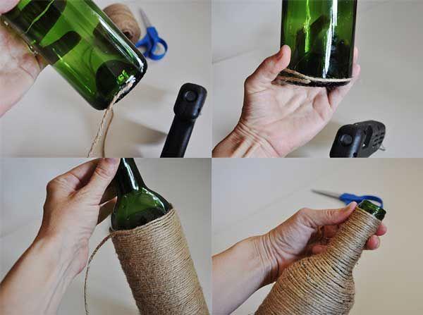 Hacer manualidades con frascos de vidrio con cartapesta - Que hacer con botellas de vidrio ...