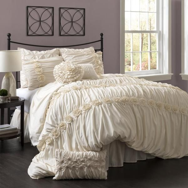 on king comforter off piece four sale sets lush bedding designer pin set decor lucia ivory to queen up cotton