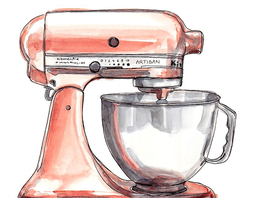 Watercolour Illustration Kitchenaid Annie Brougham Www