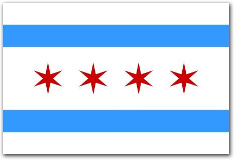 Chicago Flag Do You Know What It Means Chicago City Flag Chicago Flag Flag Of Chicago