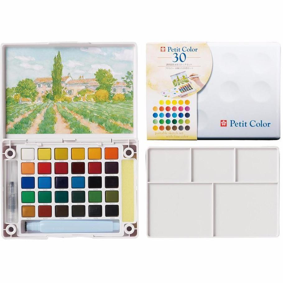Sakura Petit Color Watercolor Field Sketch Box Set 30 Color