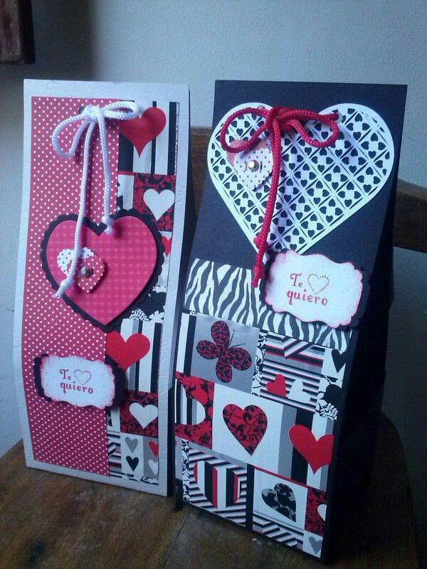 Cajas decoradas dia del amor y amistad o para esa persona for Puertas decoradas del 14 de febrero