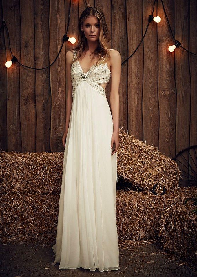 vestido de novia de jenny packham en blanco de novia. | jenny