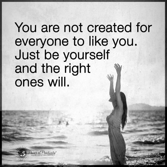 Afbeeldingsresultaat voor you are not created for everyone to like you