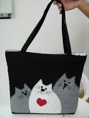 cat bag   Bags   Pinterest   Jeanstasche, Nähprojekte und Nähanleitung