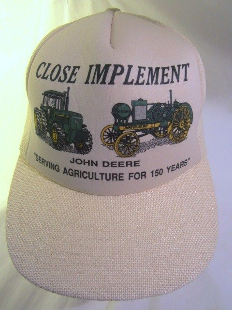 6fa951bbbb1 Vintage JOHN DEERE Close Implement Ball Cap Large Snap Back Mesh Beige Rare  Hat  JohnDeere  JohnDeereGear  tractors  tractorlove  farming  agriculture    ...