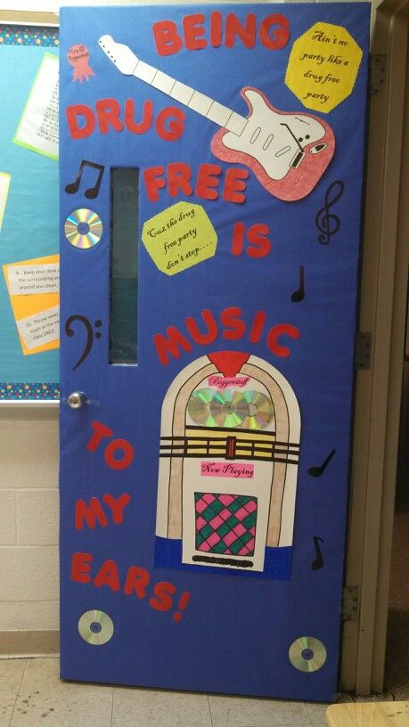Classroom Door Decoration Ideas For Red Ribbon Week : Red ribbon week door decoration bulletin boards and