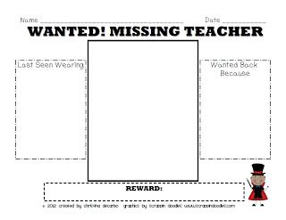 My Teacher Is Missing Sub Plan Pack Freebie With Images