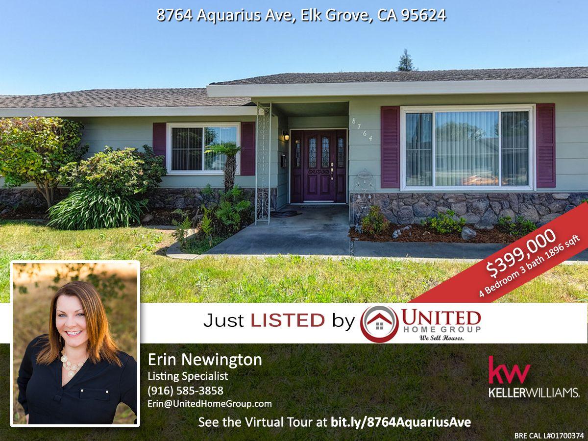 Just Listed 4 Bedroom Home For Sale In Elk Grove Ca Grove Elk Grove Real Estate