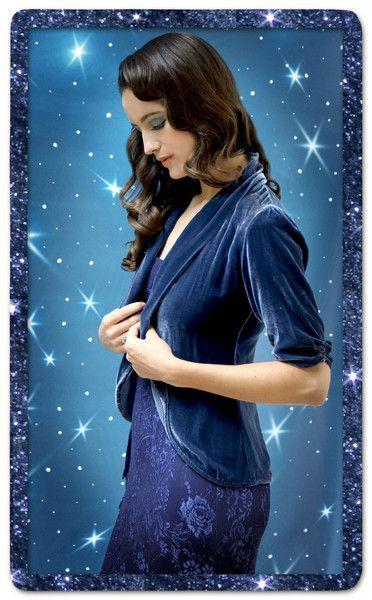 32730b1b640ed Lilliana Tea Jacket in Celeste Blue Silk Velvet | Things to Wear ...