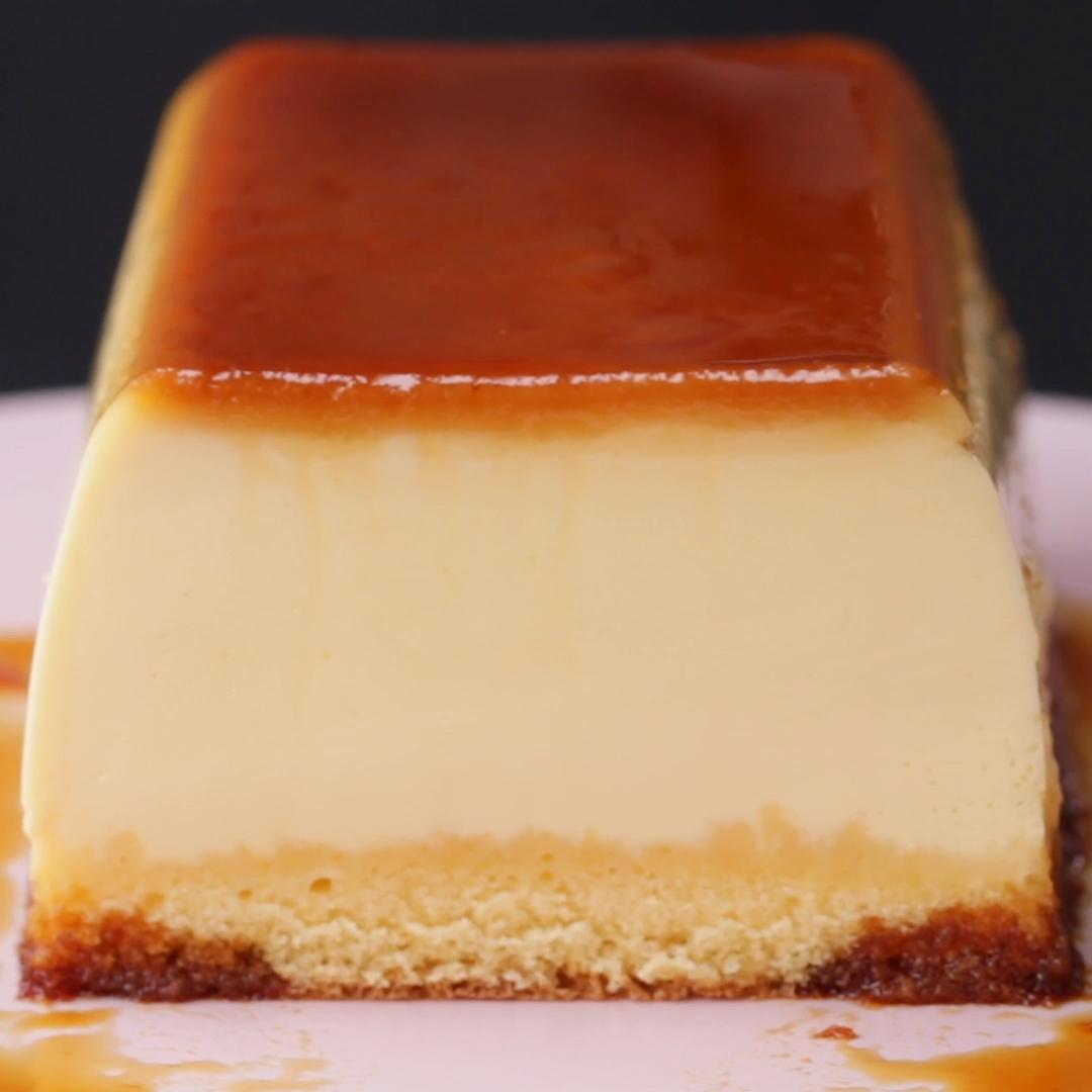 プルンプルン♪2層のプリンケーキ