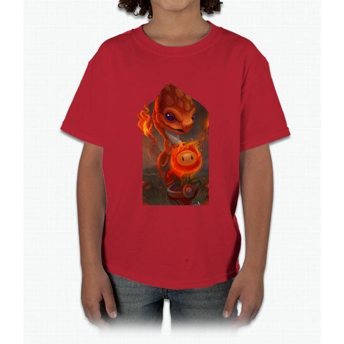 Charmander (halo + Adam Aguas Collaboration) Pikachu Young T-Shirt ...