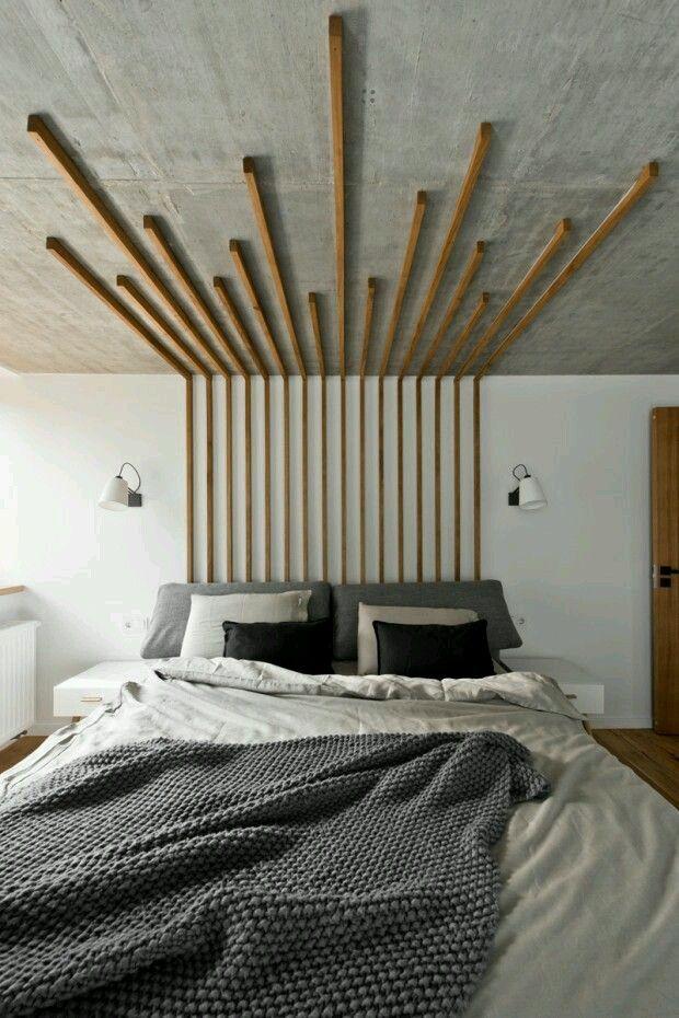 sencillo y económico cabecero de cama #officedesignsformen | Muebles ...