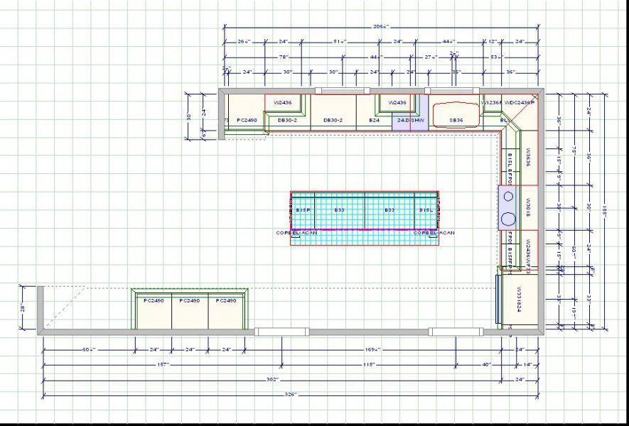 Kitchen Design Grid Template