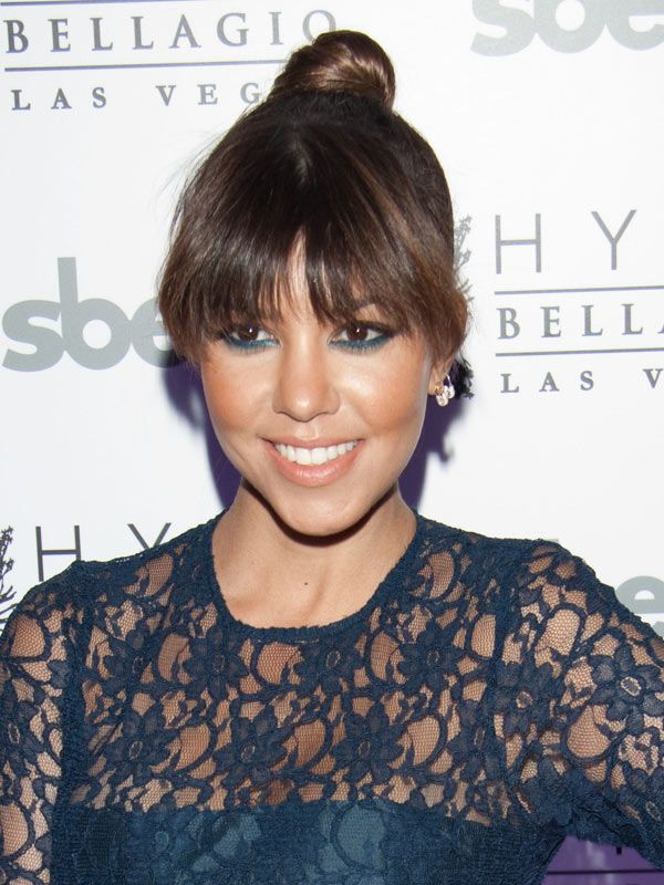 Kourtney Kardashian's Trendy Blue Eyeliner — Get TheLook