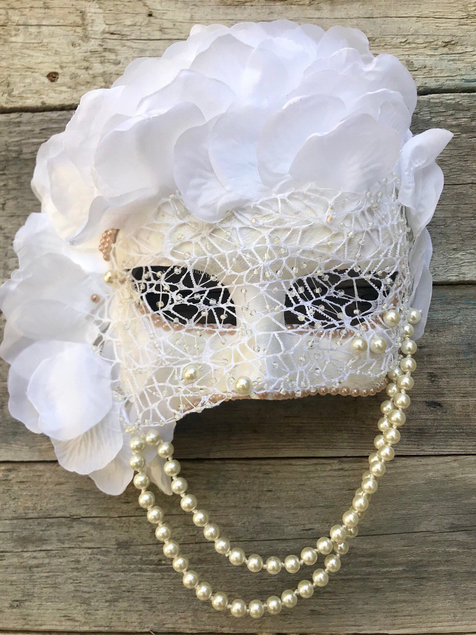 Your place to buy and sell all things handmade #masqueradeballgowns Excited to share this item from my #etsy shop: Masquerade mask, White mask, Masquerade ball mask.
