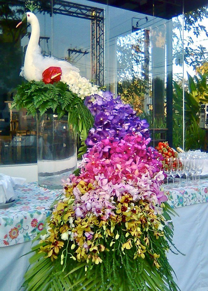Peacock Made Of Flowers Event Flowers Flower