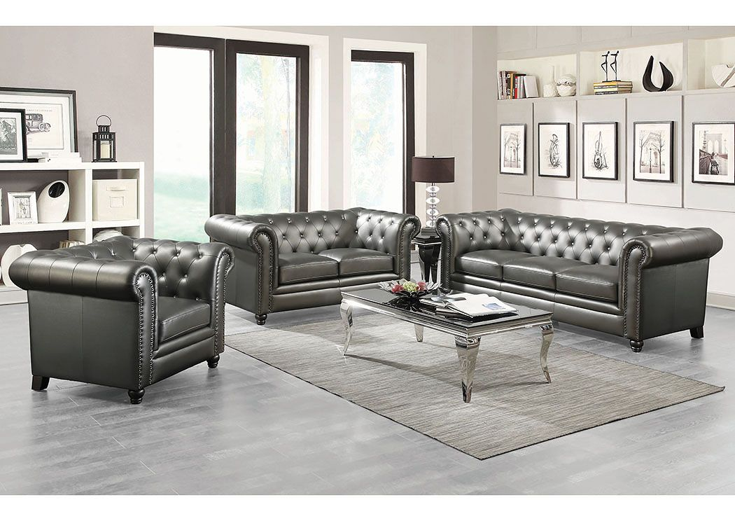 Kourtney Quilted Side Leather Sofa For