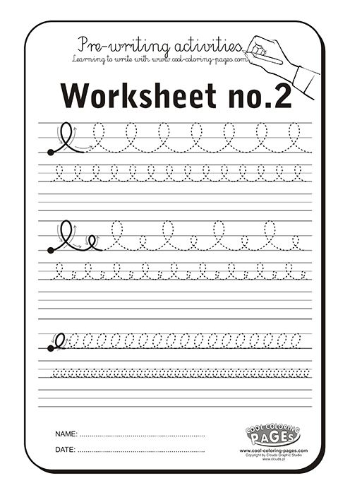 Pre Writing Activities Worksheet No 2 Cool Coloring Pages Pre Writing Activities Pre Writing Teaching Cursive Writing